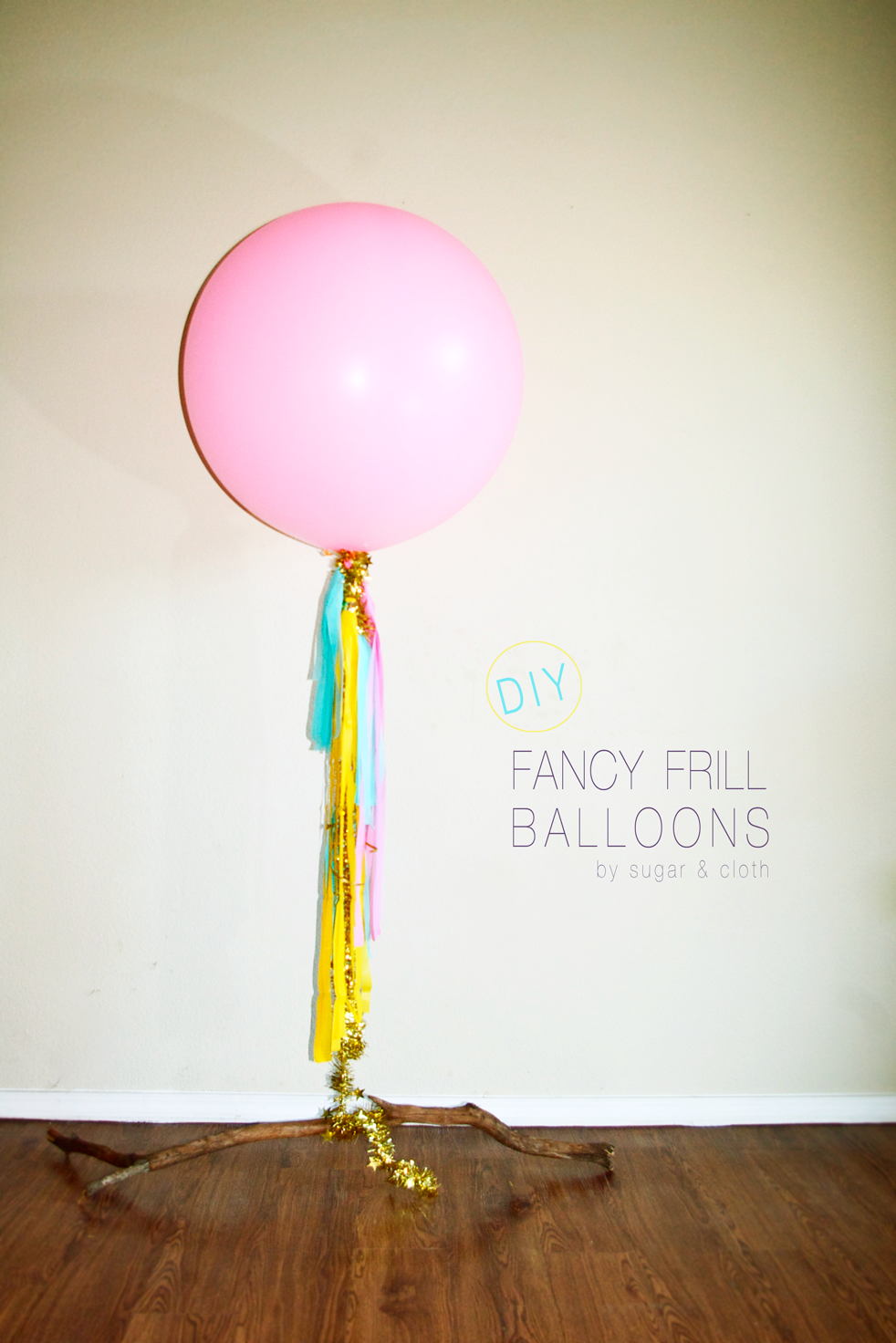 how to make fancy frill balloons