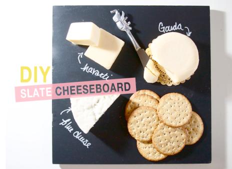 DIY slate cheeseboard