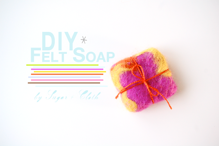 how to make your own felt soap