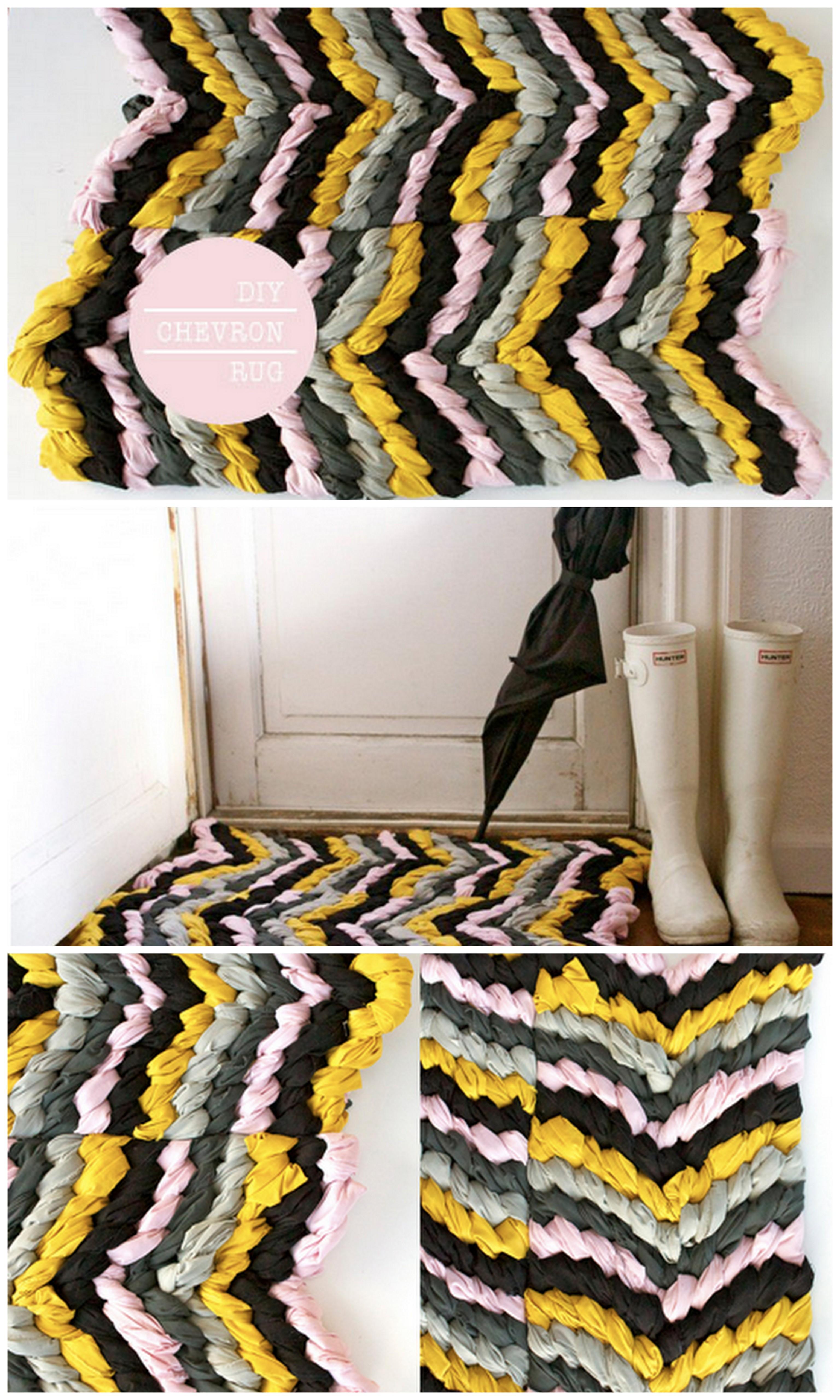 DIY braided chevron rug