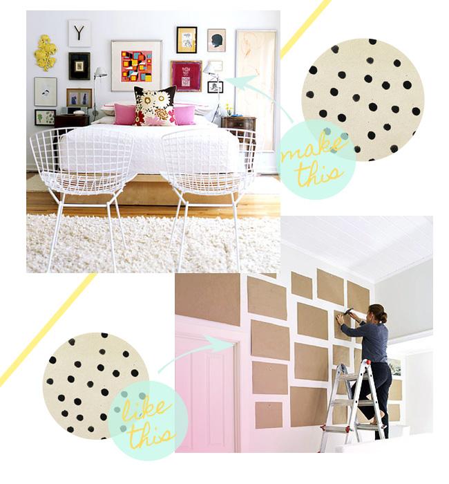 DIY gallery framed wall